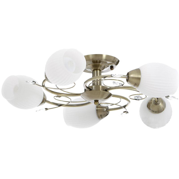 Люстра Accento lighting Merida ALDW-MX12839-5 5x60 Вт E27 антична латунь