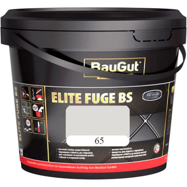 Фуга BauGut Elite BS 65 белая 2 кг