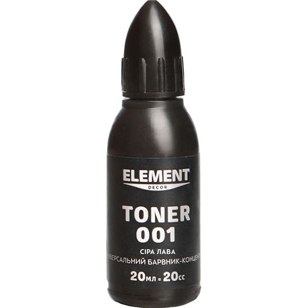 Барвник Element Decor Toner 001 сіра лава 20 мл