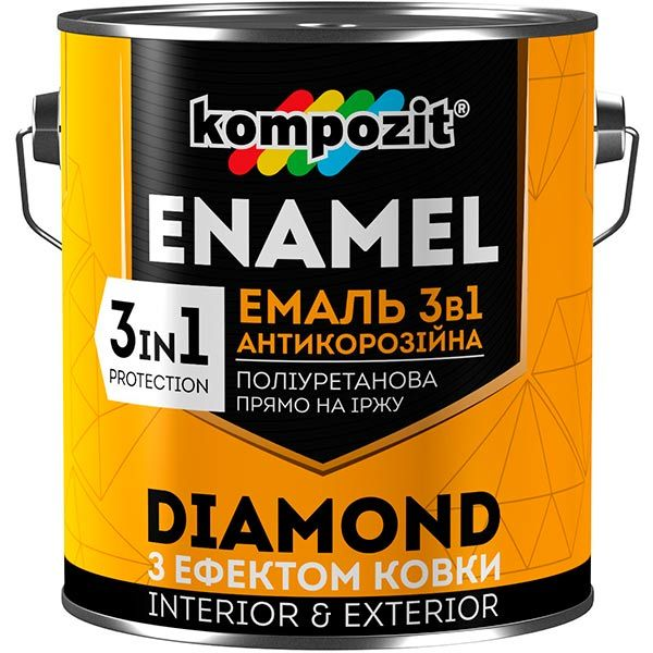 Емаль Kompozit Diamond 3 в 1 антикорозійна 0.65 л