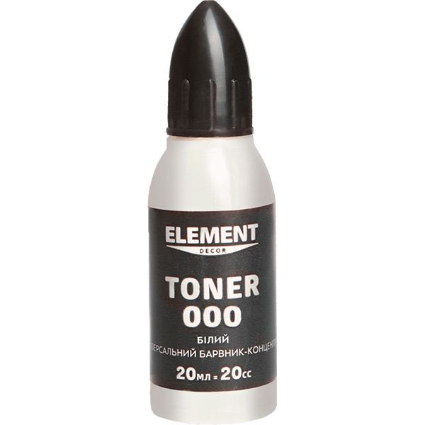 Барвник Element Decor Toner 000 білий 20 мл