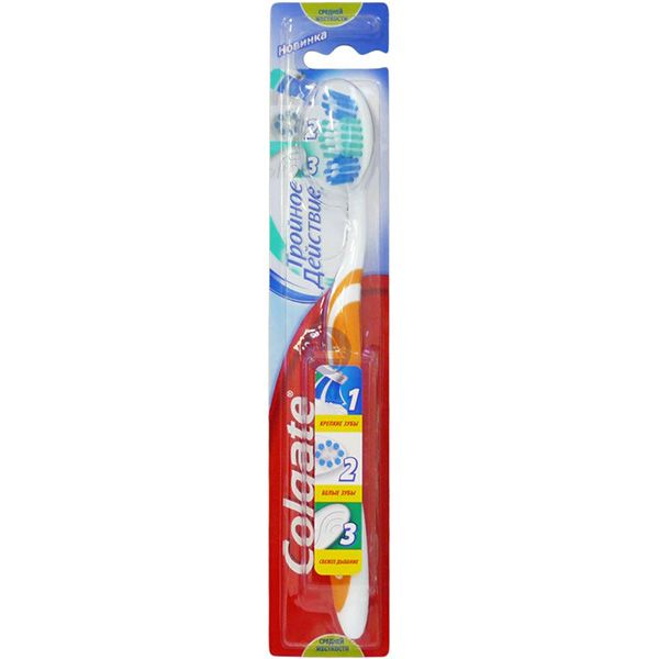 Щітка зубна Colgate Потрійна дія середня - купити в інтернет ... f71b2191e66b5