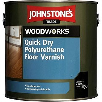 Лак Johnstone's Quick Dry Polyurethane Floor Varnish Clear Satin 5 л