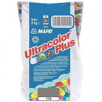 Затирка Mapei Ultracolor Plus 113 серая 2 кг