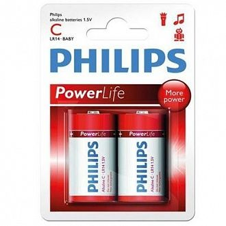 Батарейка Philips Powerlife LR14-P2B 2 шт