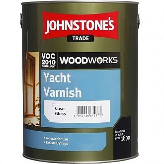 Лак Johnstone's Heavy Duty Yacht Varnish Gloss 2.5 л