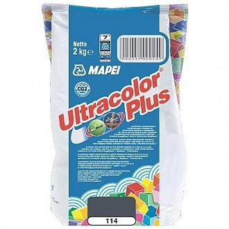 Затирка Mapei Ultracolor Plus 114 антрацит 2 кг