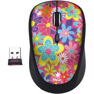 Миша бездротова Trust Yvi Wireless Mouse flower power