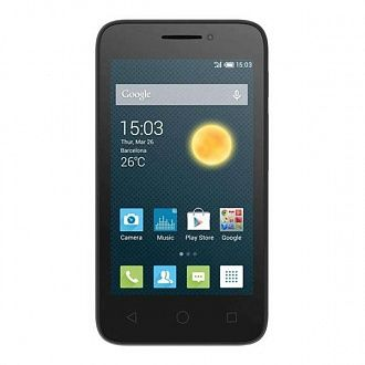 Смартфон Alcatel One Touch 4013D white (black front)