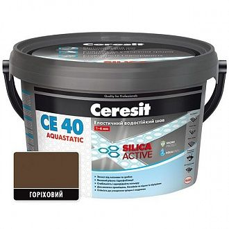 Затирка Ceresit CE-40 Aquastatic горіх 2 кг