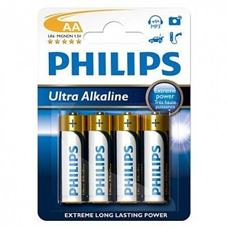 Батарейка Philips Ultra Alkaline LR 6 4 шт