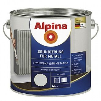 Грунтовка Alpina Grundierung fur Metall 0.75 л