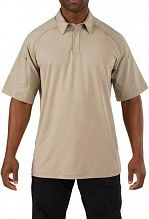 Футболка поло 5.11 Tactical Rapid Performance Polo - Short Sleeve р. M silver tan 41018