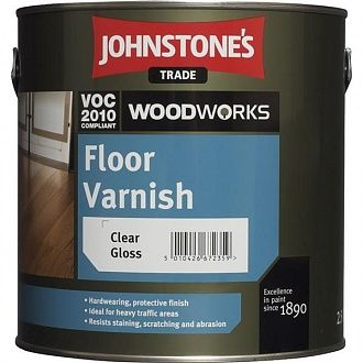 Лак Johnstone's Floor Varnish Clear Satin 2.5 л