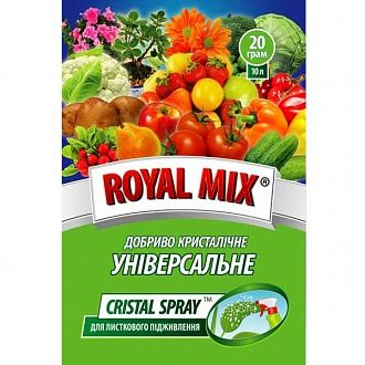 Добриво Royal Mix Cristal spray універсальне 0.02 кг