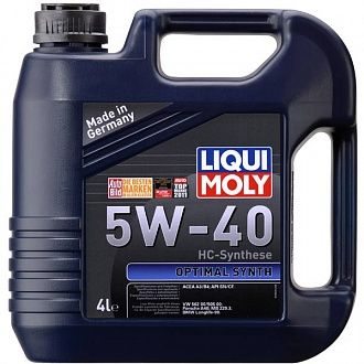 Масло моторное Liqui Moly Оptimal synth 5W-40 4 л