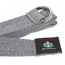 Лента для йоги Energetics 296606-021 Yoga Cotton Strap серый