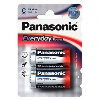Батарейка Panasonic Everyday Power C BLI Alkaline 2 шт