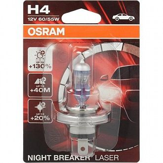 Автолампа Osram Night Breaker Laser H4 P43t 12 В 1 шт