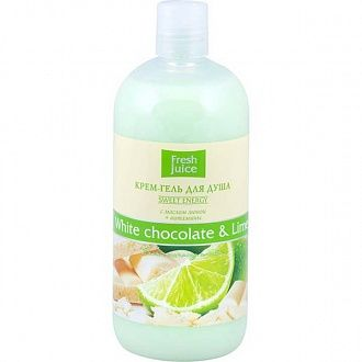 Крем-гель для душа Fresh Juice White chocolate and Lime 500 мл
