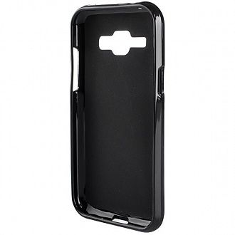 Накладка Drobak Elastic PU для Samsung Galaxy J1 J100H/DS Black