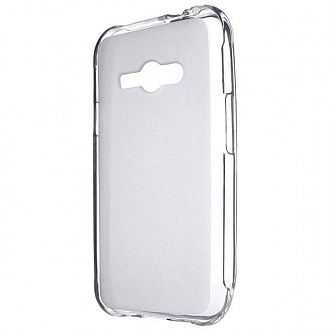 Накладка Drobak Elastic PU для Lenovo Samsung Galaxy J1 Ace J110H/DS White Clear