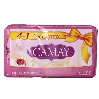 Мыло Camay Creme and Strawberry 5x75 г