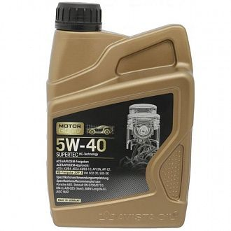 Моторное масло Motor Gold Supertec SAE 5W-40 1 л