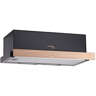 Вытяжка Pyramida TL wood black 60 см