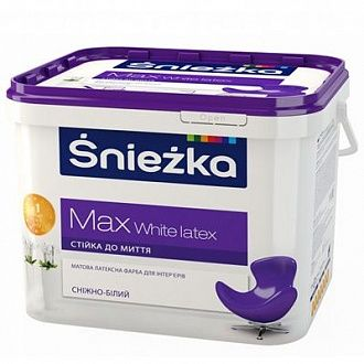 Краска Sniezka Max White Latex 7 кг