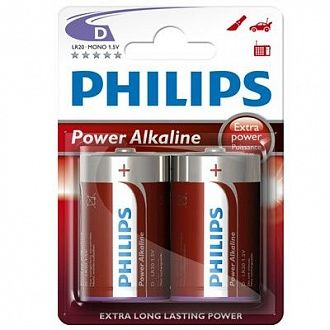 Батарейка Philips Powerlife LR20-P2B 2 шт
