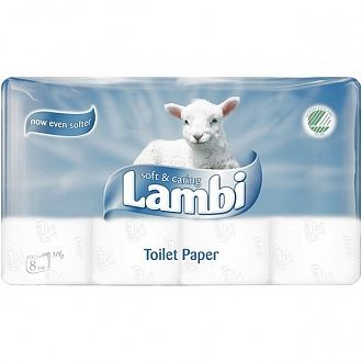 Папір туалетний Metsa Tissue Lambi Soft and Caring 8 шт