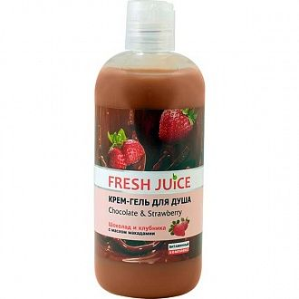 Крем-гель для душа Fresh Juice Chocolate and Strawberry 500 мл